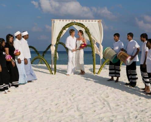 Veligandu Hochzeitszeremonie