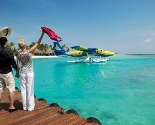 Veligandu Island Resort & Spa Wasserflugzeug